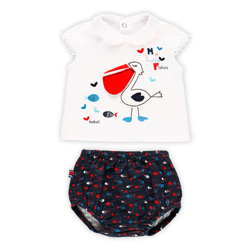 Pelican T-shirt with Diaper Cover