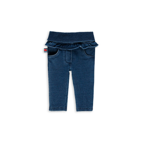 Denim Pants with Ruffle