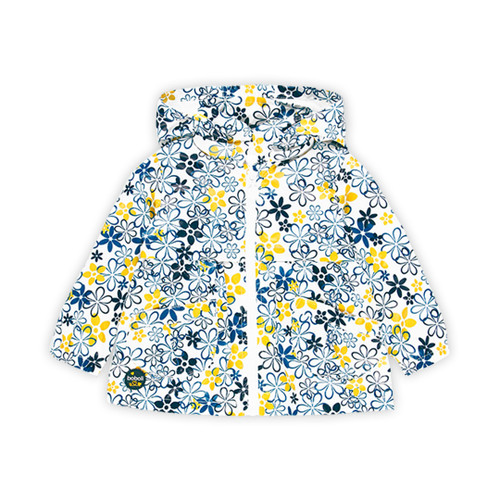 Navy and Yellow Floral Jacket