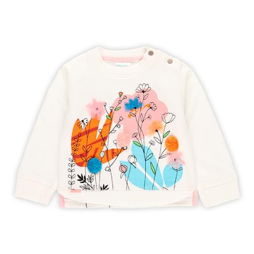 Floral White Sweatshirt