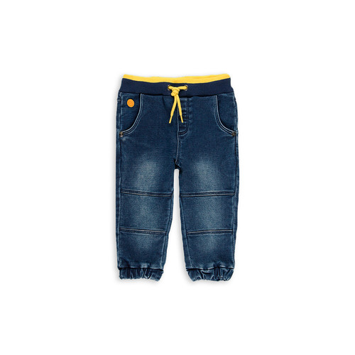 Denim Pants with Yellow Stripe