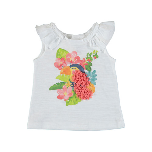 Sleeveless Top - Toucan w/ Flowers