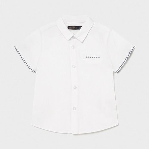 White Trimmed Dress Shirt