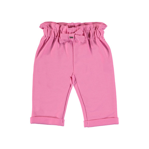 Gathered Waist Knit Pant - Pink