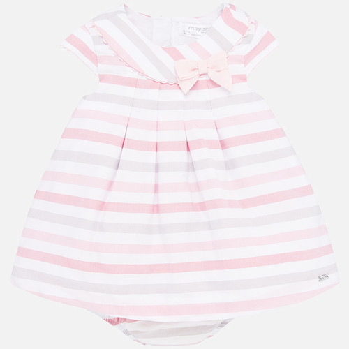 Pink + Grey Stripe Dress