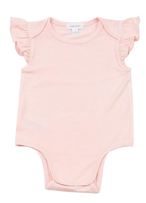 Pink Ruffle Sleeveless Onesie