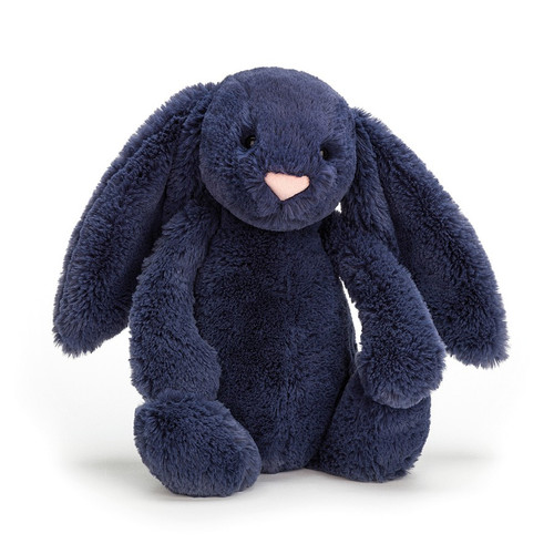 Bashful Navy Bunny - Medium 12x5""