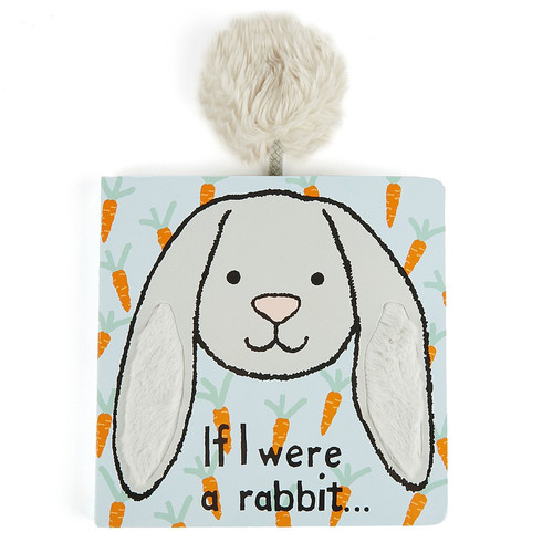 If I Were A Rabbit Board Book - Blue