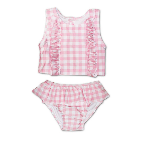 Pink Gingham Tankini