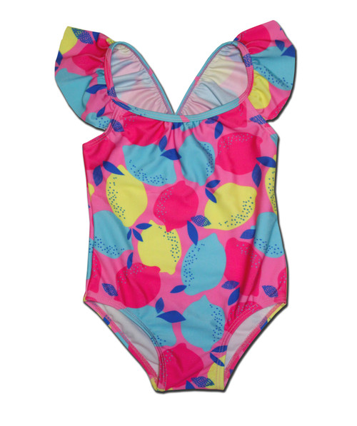 Lemon Print Swimsuit