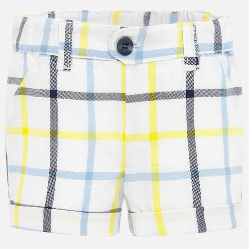Yellow & Blue Plaid Shorts