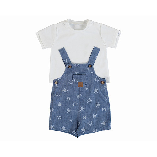 Denim Shortall with Tee
