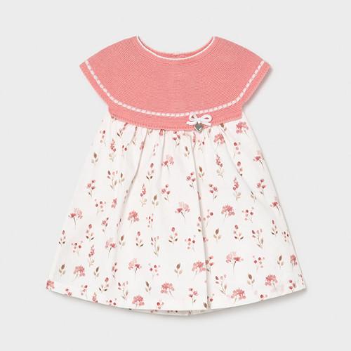Floral Print Knit Top Dress