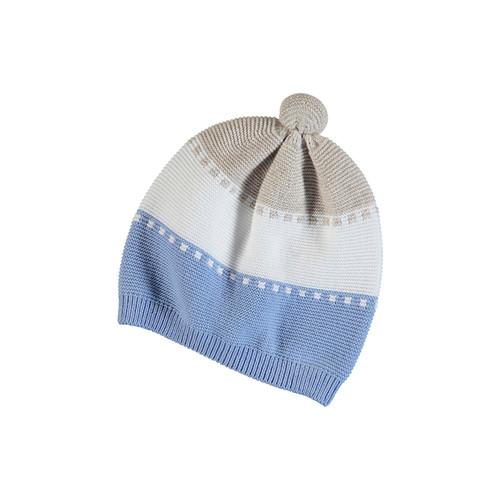 Knit Blue/Tan Hat