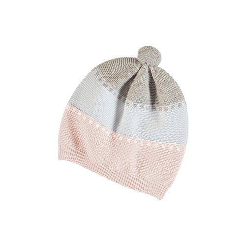 Knit Pink/Tan Hat