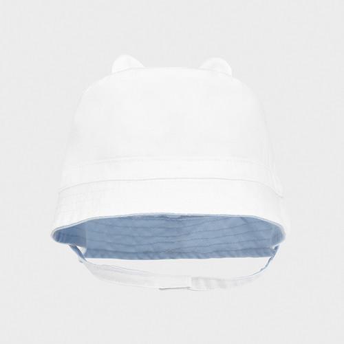 Reversible Hat - White/ light blue
