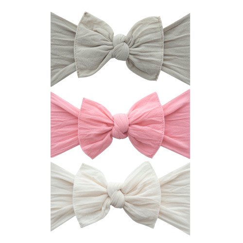 Set of 3 Solid Knot Headband - Pastel