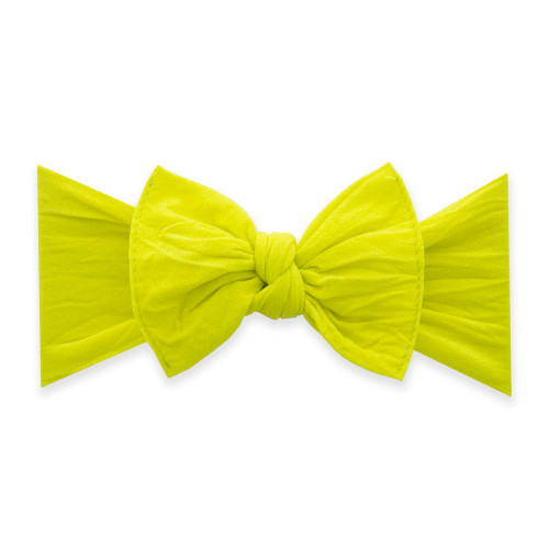 Solid Knot Headband - Neon Yellow