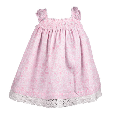 Pink Toile Empire Dress