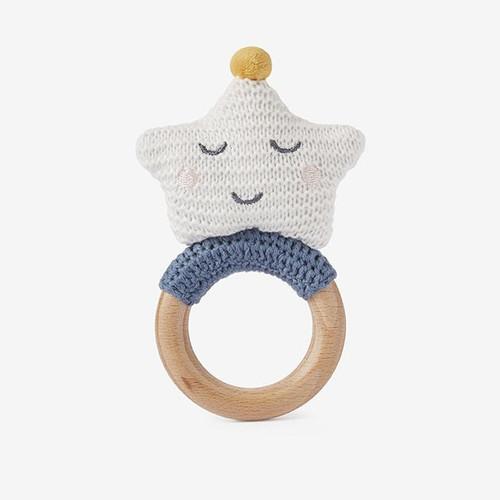 Knit Celestial Ring Rattle