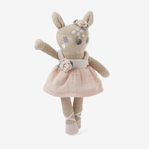 """Knit Fawn Toy 8"""""""