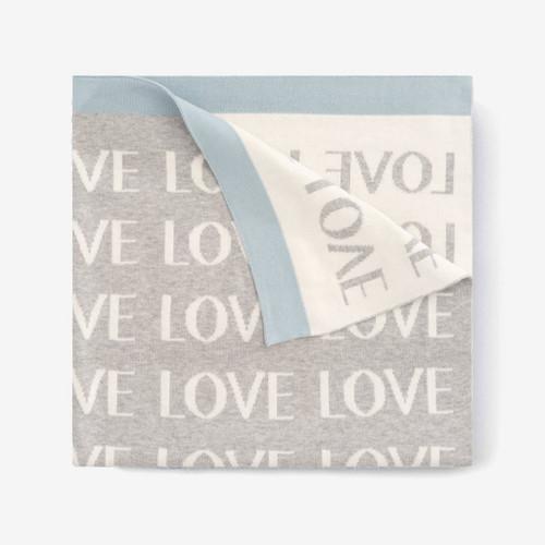 Knit Love blanket - Blue