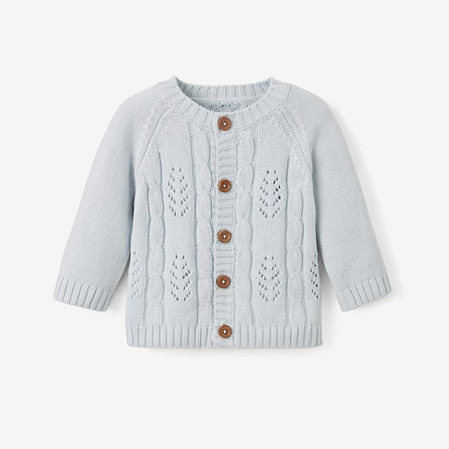 Blue Leaf Knit Cardigan