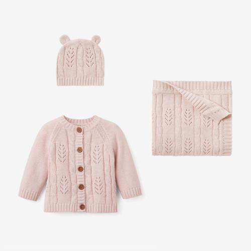 Knit Gift Set  - Pink