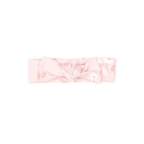 Bow Headband - Pink Daisy