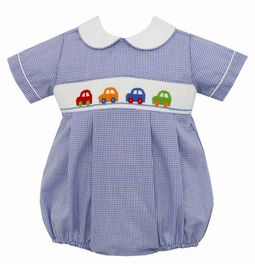 Smock Collared Bubble - Cars