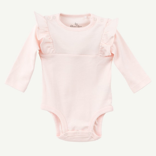 Blush Flutter Bodysuit - Long Sleeve