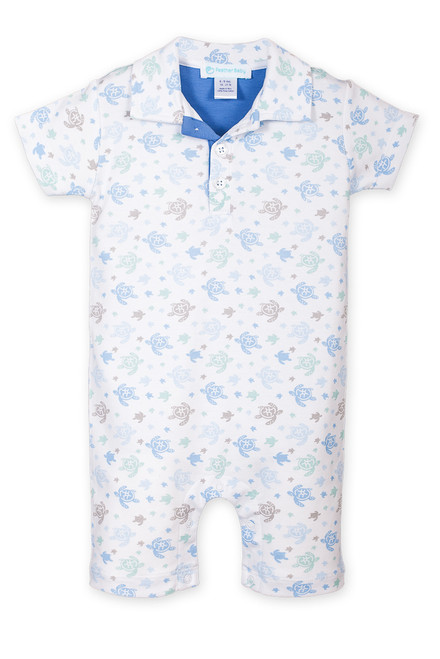 Collard Romper - Sea Turtles