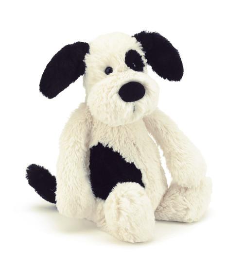 Bashful Black & Cream Puppy Plush
