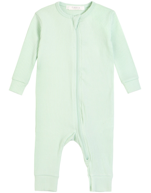 Mint Ribbed Playsuit