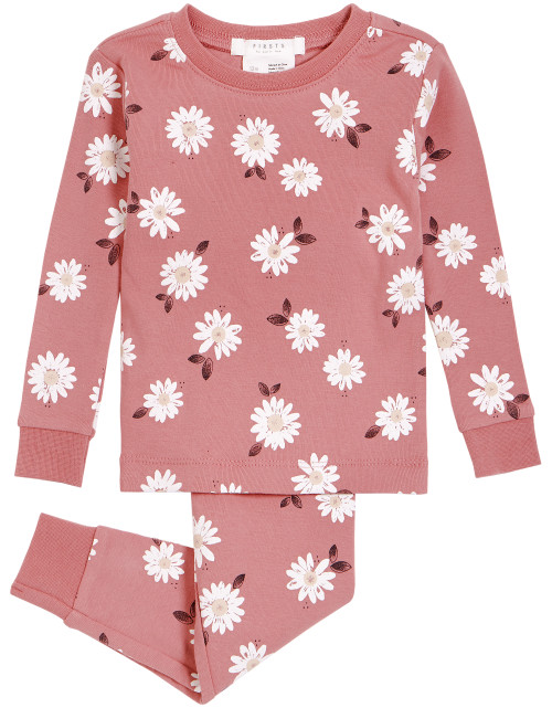 Dusty Floral 2pc Pajama Set