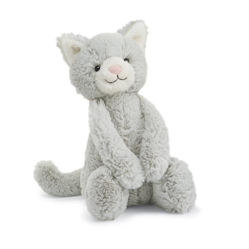 Bashful Grey Kitty Plush