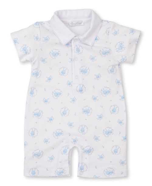 Bunny Hugs Short Playsuit - Blue