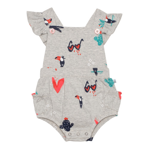 Toucans, Hearts and Flowers - Romper