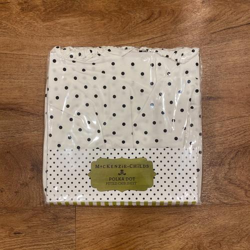 Black and White Dot Crib Sheet