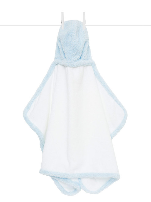 Blue Hooded Chenille Towel | Registry Item For E+J