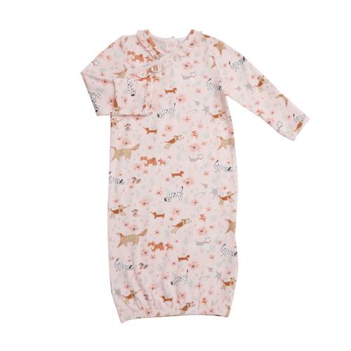 Kimono Gown - Floral Pups