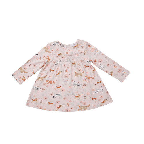 Smocked Top and Legging  - Floral Pups