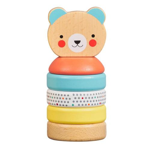 PETIT COLLAGE 5055923778913 Happy Bear Wood Stacker