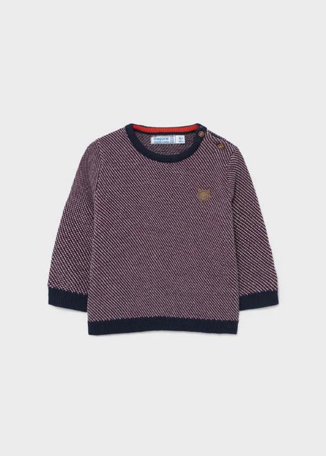 Bordeaux Mini Jacquard Sweater