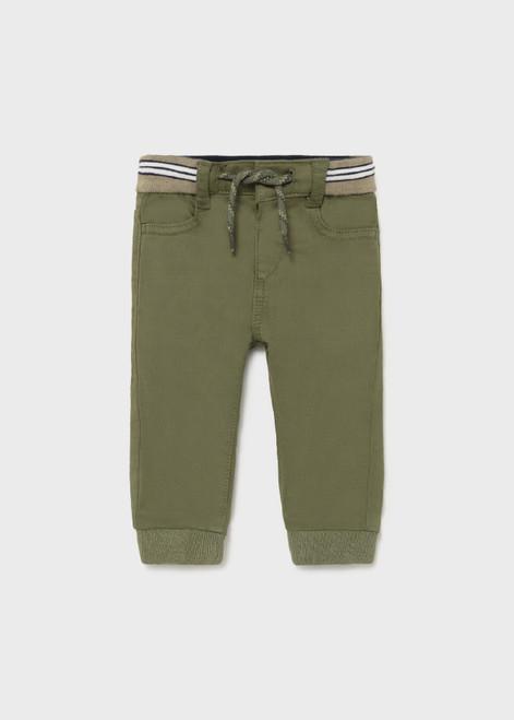 Green Twill Joggers