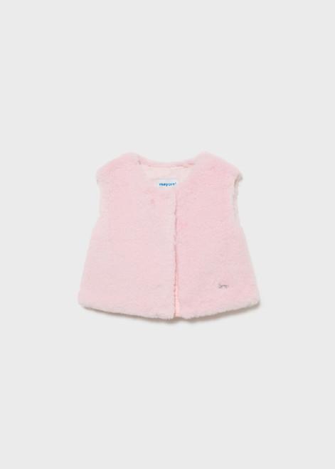 Faux Fur Vest - Pink