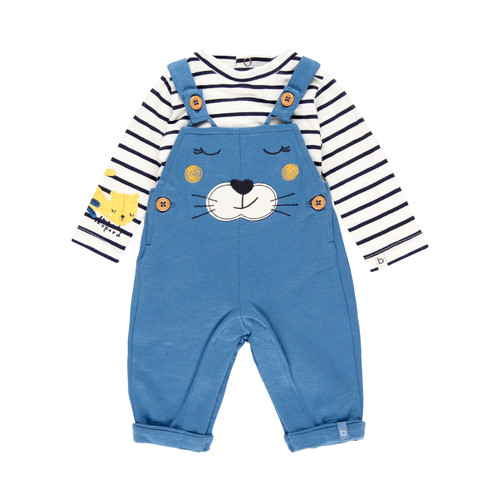 Blue Bear Overall Set with Onesie