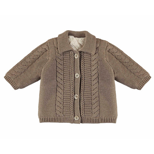 Button Front Cable Cardigan