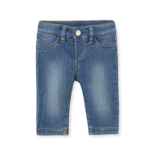 Grey Lined Denim Pants