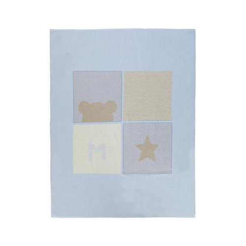 Intarsia Bear Blanket